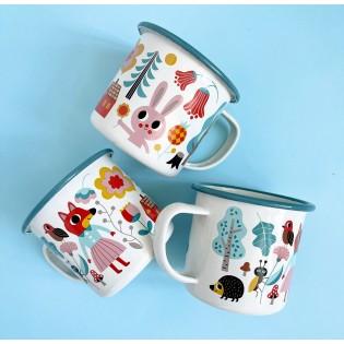 Mug tasse émaillée Forêt Ingela Arrhenius - Omm Design