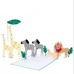 Carte naissance Safari - Meri Meri