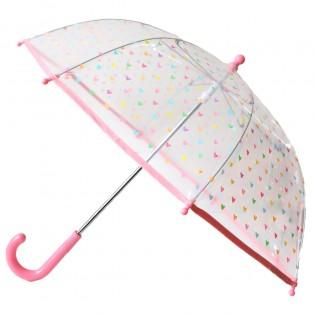 Parapluie transparent Coeurs