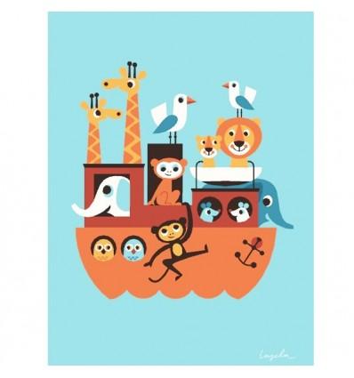 Affiche Arche de Noé d'Ingela Arrenhius