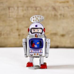 Robot astronaute galaxie vintage