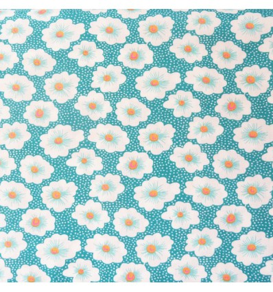 Tissu Petit pan Osami turquoise