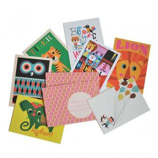 Lot de 7 cartes et enveloppes Ingela Arrhenius