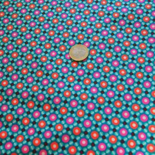 Tissu Petit pan Piazza turquoise
