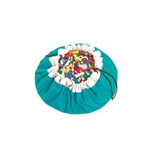 Grand Sac play & go de rangement turquoise