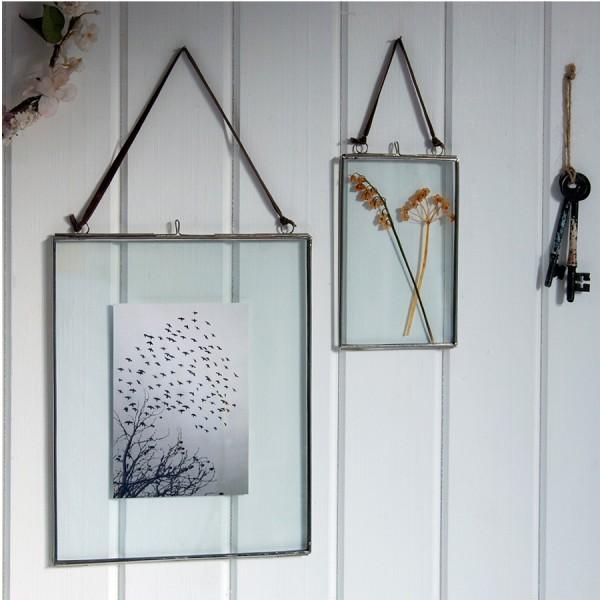 cadre en verre et m tal 10 x 15 cm