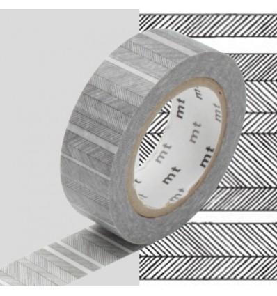 Masking tape traits obliques noires