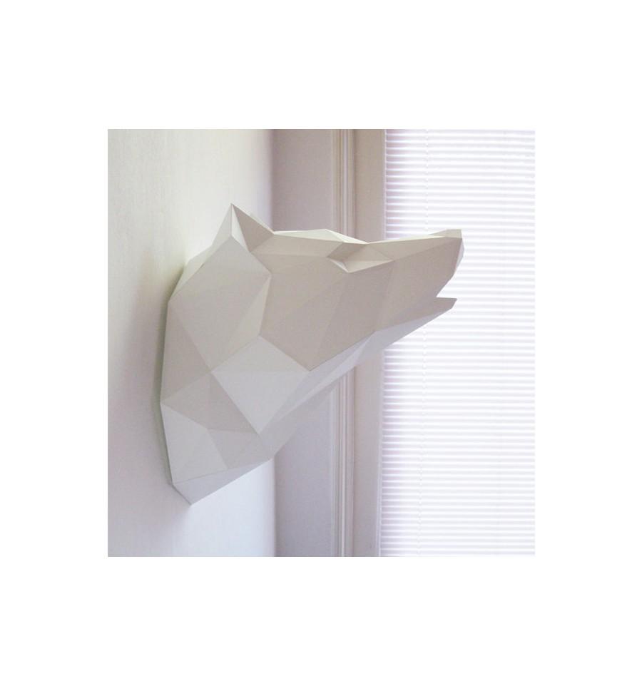 Bien connu Kit de pliage papier trophée loup blanc CV39