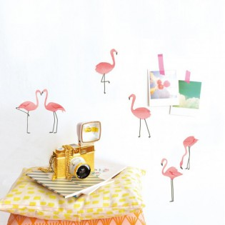 Stickers Just a touch flamants roses Mimi lou