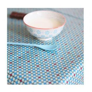 Coton enduit Petit pan Hélium turquoise