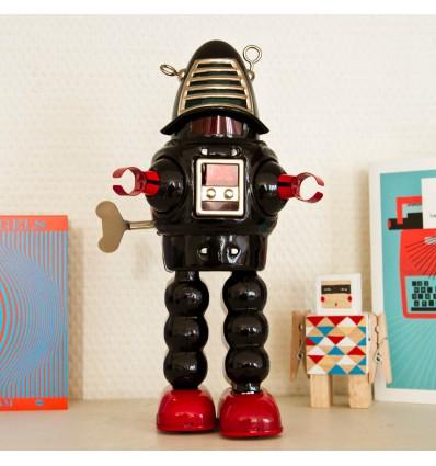 Robot Vintage Planet noir